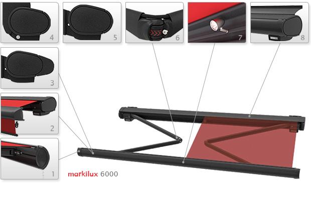 Локтевые горизонтальные, Кассетные модели Markilux-6000