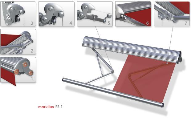 Локтевые горизонтальные, Кассетные модели Markilux-ES-1