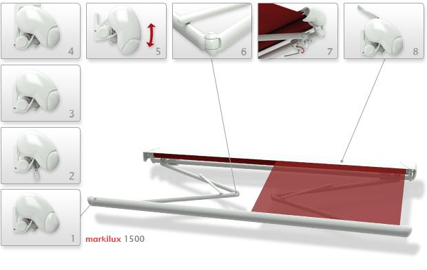 Локтевые горизонтальные, Полукассетные модели Markilux-1500