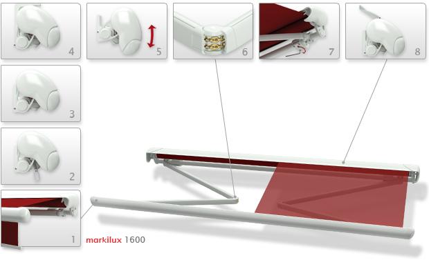 Локтевые горизонтальные, Полукассетные модели Markilux-1600